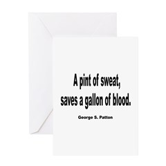 Patton Sweat & Blood Quote Greeting Card
