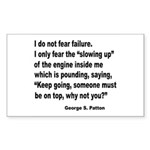 I Do Not Fear Failure Rectangle Sticker 10 pk)