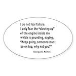 I Do Not Fear Failure Oval Sticker (10 pk)