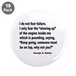 "I Do Not Fear Failure 3.5"" Button (10 pack)"