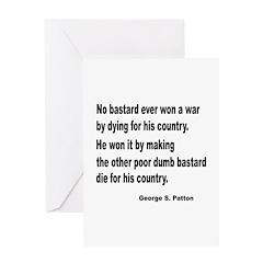 Patton on Winning a War Greeting Card