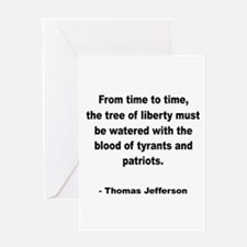 Jefferson Tree of Liberty Quo Greeting Card