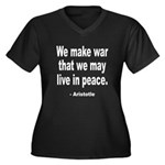 Make War to Live in Peace Quo Women's Plus Size V-