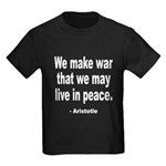 Make War to Live in Peace Quo Kids Dark T-Shirt