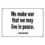 Make War to Live in Peace Quo Banner