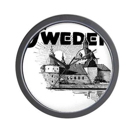 Sweden Castle Wall Clock