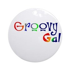 Groovy Gal Ornament (Round)