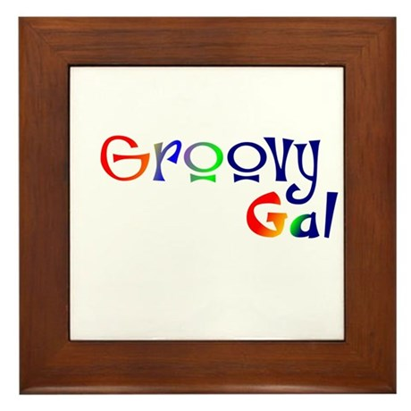 Groovy Gal Framed Tile