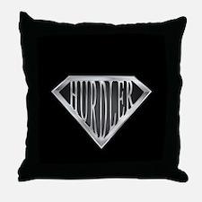 SuperHurdler(metal) Throw Pillow
