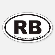 Rancho Bernardo RB Euro Oval Sticker (San/Ranch)