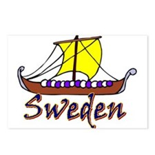 Swedish Long Boat Postcards (Package of 8)
