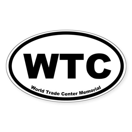 World Trade Center Memorial Oval Sticker