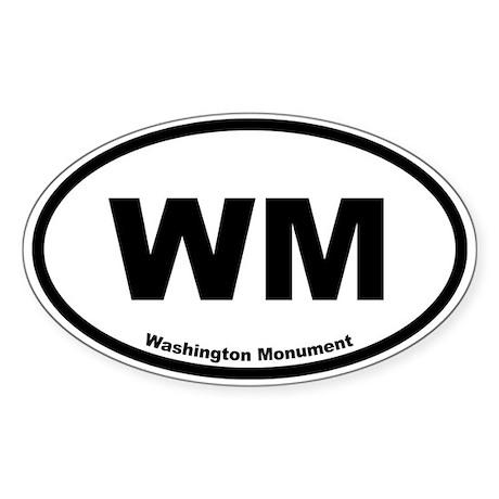 Washington Monument Oval Sticker