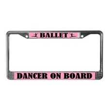 Ballet Dancer On Board License Plate Frame