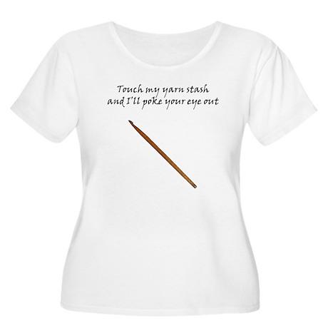 Don't Touch Women's Plus Size Scoop Neck T-Shirt