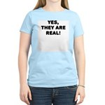 Yes, They Are Real! Womens T-Shirt - Pink