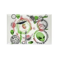 A.L.I.E.N. Arcane Circles 13 Rectangle Magnet