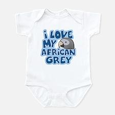 Kawaii Timneh African Grey Infant Bodysuit