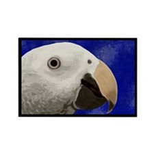 Timneh African Grey Art Rectangle Magnet