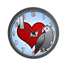 I Love My Timneh African Grey Clock