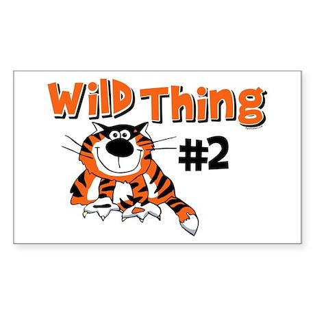 Wild Thing #2 Rectangle Sticker