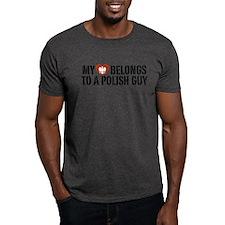 My Heart belongs to a Polish Guy T-Shirt