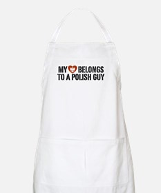 My Heart belongs to a Polish Guy BBQ Apron