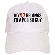 My Heart belongs to a Polish Guy Baseball Cap