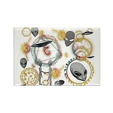 A.L.I.E.N. Arcane Circles 17 Rectangle Magnet