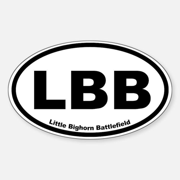 Little Bighorn Battlefield Oval Decal