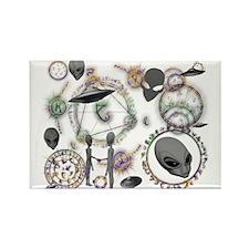 A.L.I.E.N. Arcane Circles 16 Rectangle Magnet