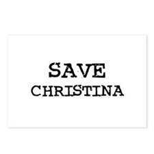 Save Christina Postcards (Package of 8)