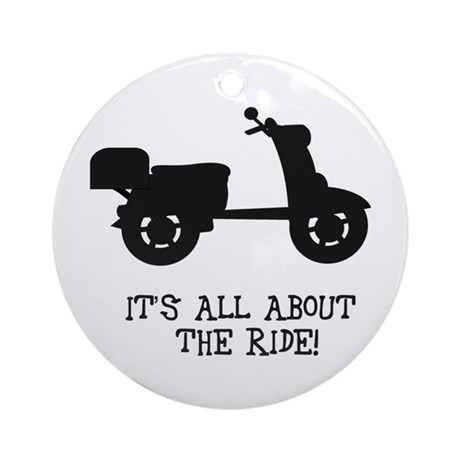 It's All About The Ride Ornament (Round)