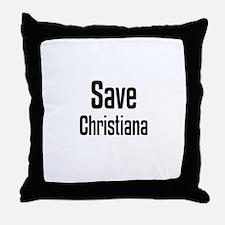 Save Christiana Throw Pillow