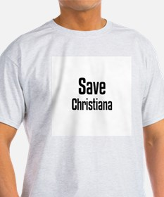 Save Christiana Ash Grey T-Shirt