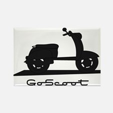 Go Scoot Rectangle Magnet