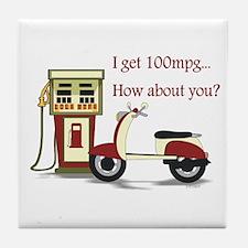 100 mpg Tile Coaster