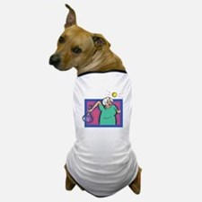 Seniors Tennis Player Dog T-Shirt