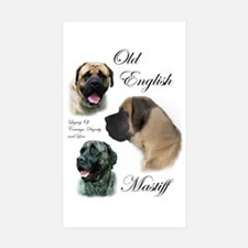 Old English Mastiff Rectangle Sticker 10 pk)