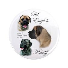 "Old English Mastiff 3.5"" Button (100 pack)"