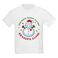 Snowman Grandpa Claus T-Shirt