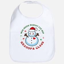 Snowman Grandpa Claus Bib