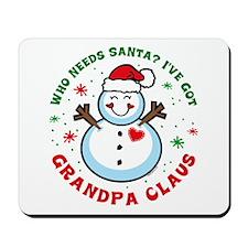 Snowman Grandpa Claus Mousepad