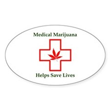 Helps Save Lives Oval Decal