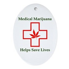 Helps Save Lives Oval Ornament
