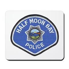 Half Moon Bay Police Mousepad