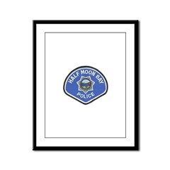 Half Moon Bay Police Framed Panel Print