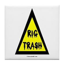 Danger Rig Trash Tile Coaster