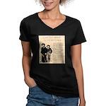 Annie & Jennie Women's V-Neck Dark T-Shirt