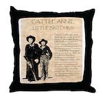 Annie & Jennie Throw Pillow
